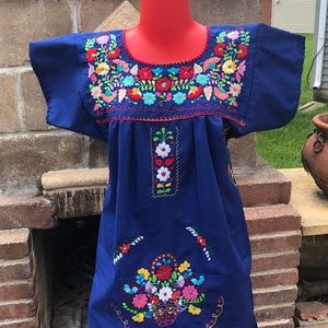 Dresses & Skirts - NWT Traditional Mexican dress hand embroidered